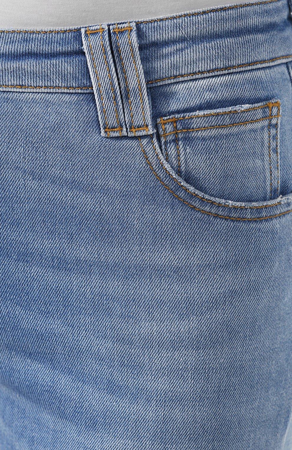 Женские джинсы BALMAIN голубого цвета, арт. SF15634/D067   Фото 5