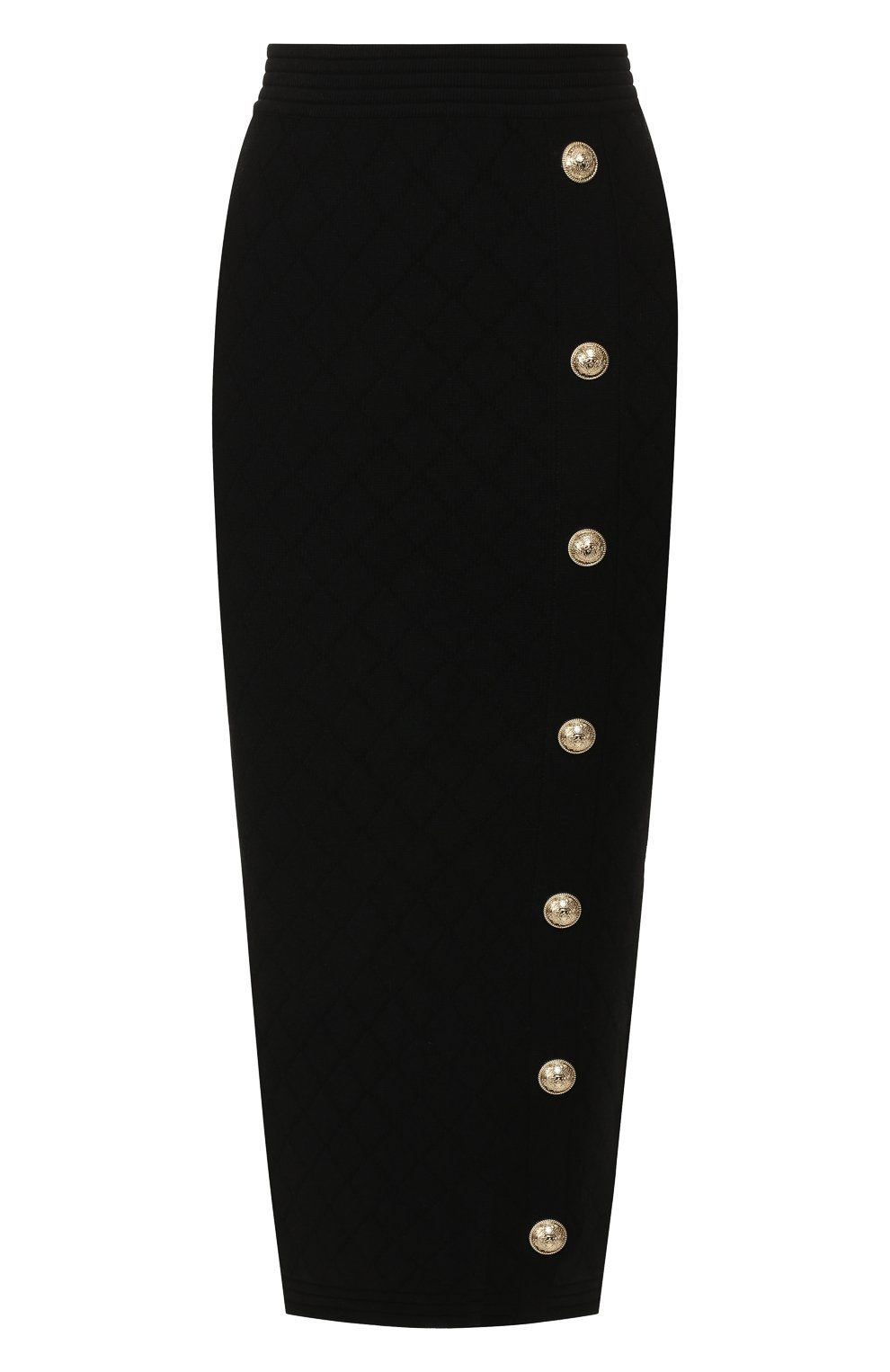Женская юбка из вискозы BALMAIN черного цвета, арт. SF14869/K462 | Фото 1