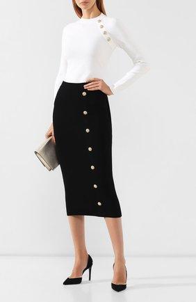 Женская юбка из вискозы BALMAIN черного цвета, арт. SF14869/K462 | Фото 2