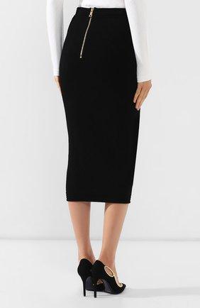 Женская юбка из вискозы BALMAIN черного цвета, арт. SF14869/K462 | Фото 4