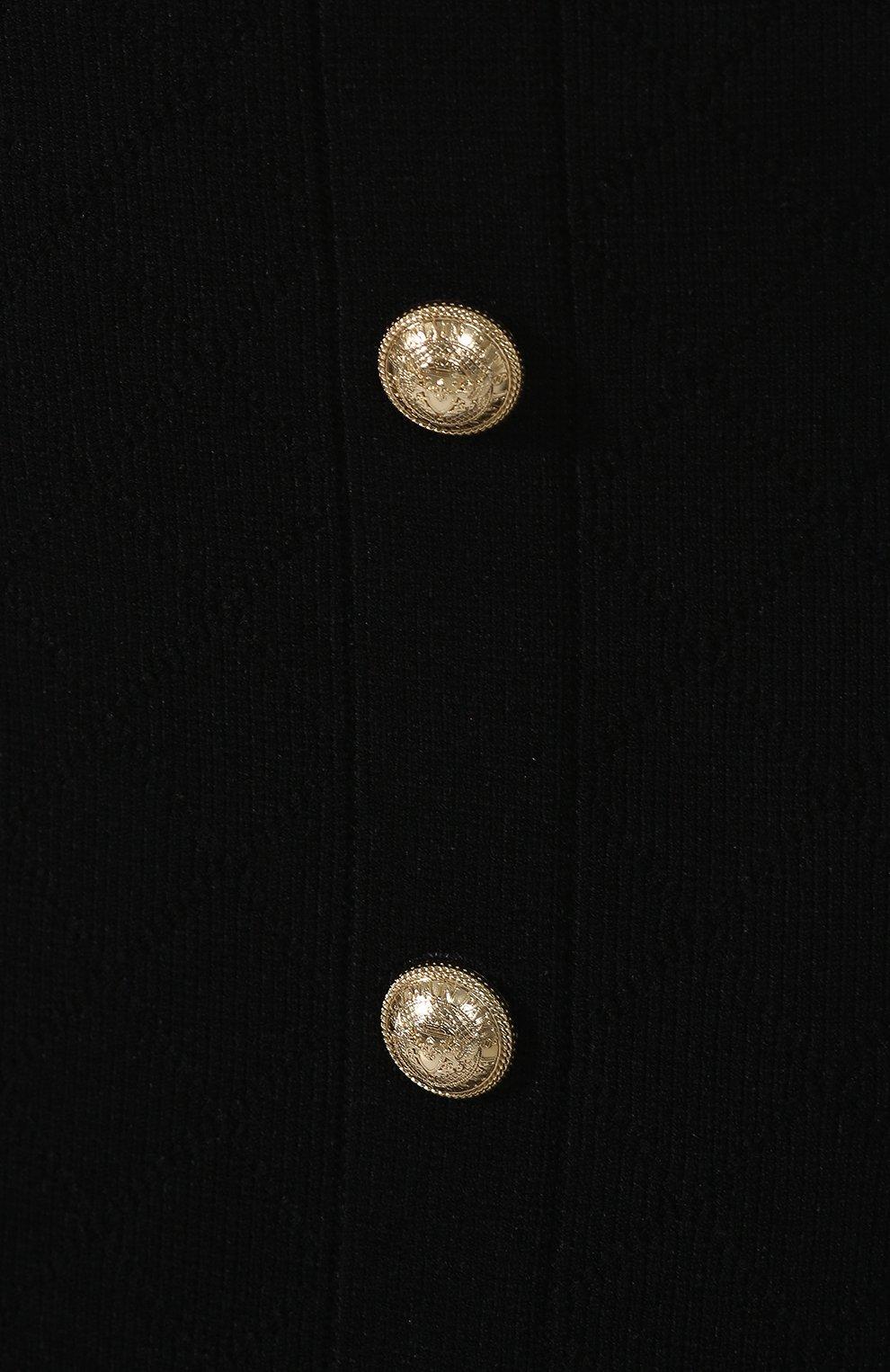 Женская юбка из вискозы BALMAIN черного цвета, арт. SF14869/K462 | Фото 5