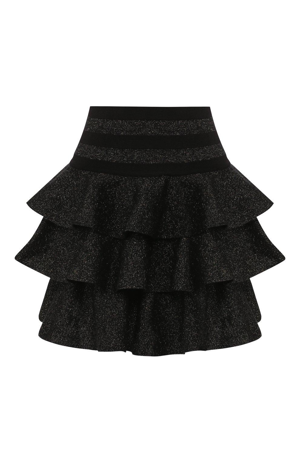 Женская юбка BALMAIN черного цвета, арт. SF14392/K429 | Фото 1