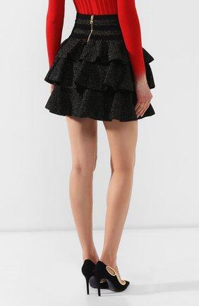 Женская юбка BALMAIN черного цвета, арт. SF14392/K429 | Фото 4