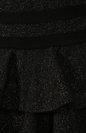 Женская юбка BALMAIN черного цвета, арт. SF14392/K429 | Фото 5