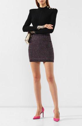 Женская юбка BALMAIN разноцветного цвета, арт. SF14260/K415 | Фото 2
