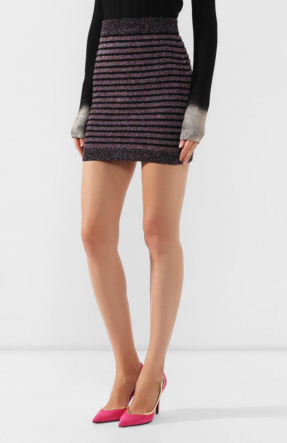 Женская юбка BALMAIN разноцветного цвета, арт. SF14260/K415 | Фото 3