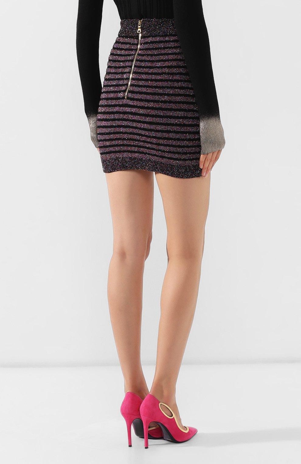 Женская юбка BALMAIN разноцветного цвета, арт. SF14260/K415 | Фото 4