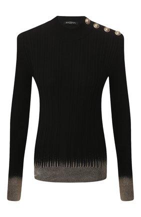 Женская пуловер BALMAIN черного цвета, арт. SF13077/K467 | Фото 1