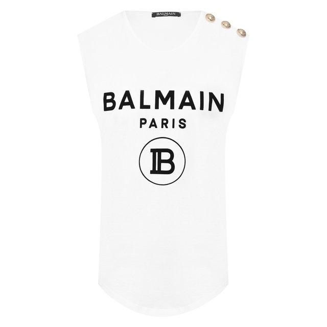 Хлопковый топ Balmain