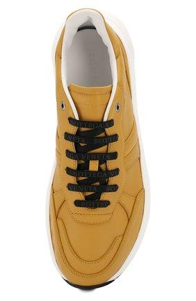 Мужские кожаные кроссовки BOTTEGA VENETA желтого цвета, арт. 565646/VT040 | Фото 5