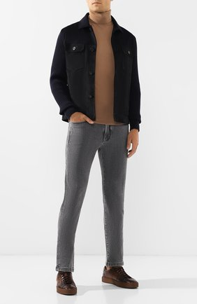 Мужские джинсы LORO PIANA серого цвета, арт. FAI7884 | Фото 2