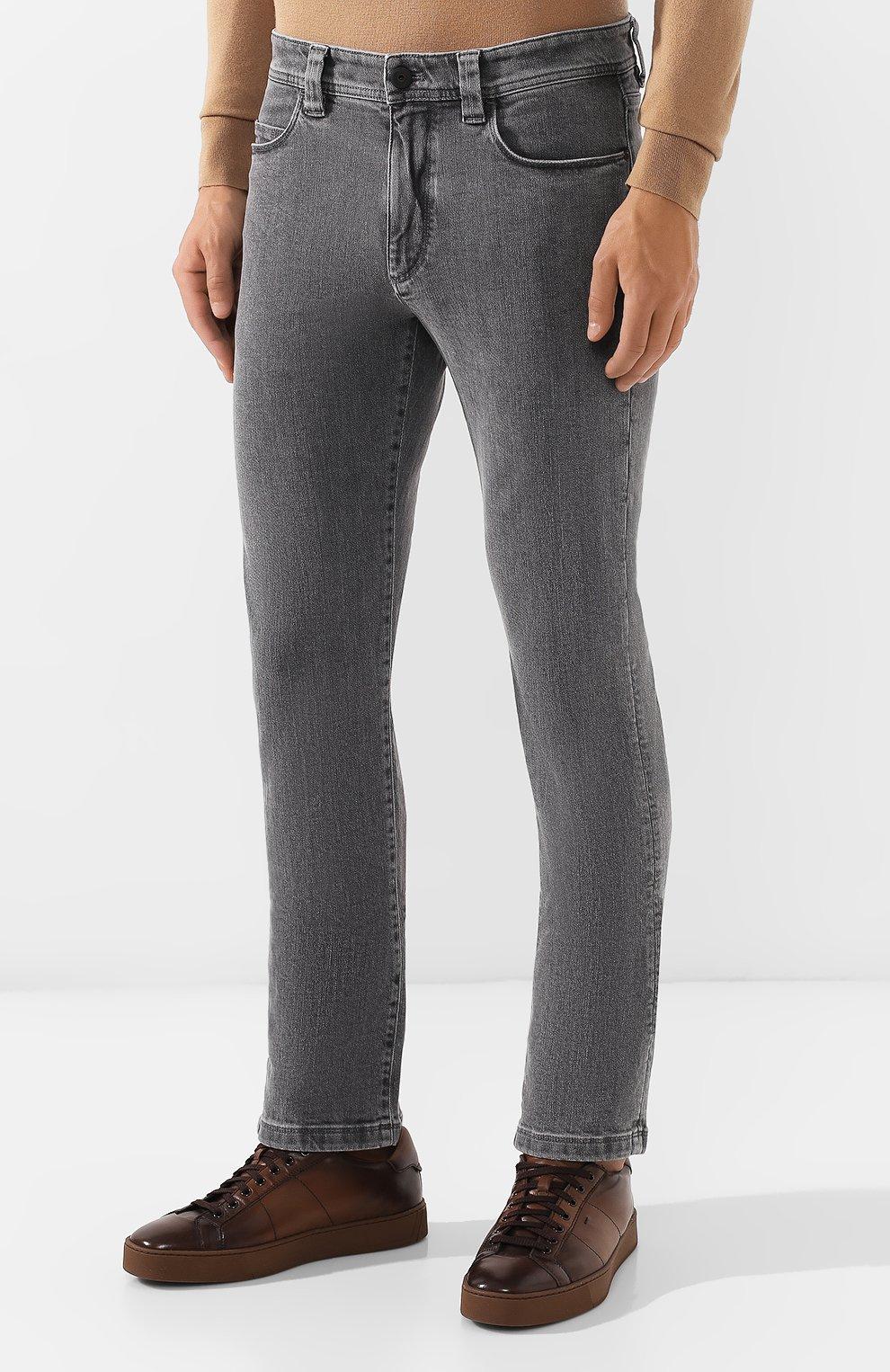 Мужские джинсы LORO PIANA серого цвета, арт. FAI7884 | Фото 3