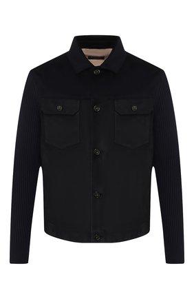Мужская замшевая куртка LORO PIANA темно-синего цвета, арт. FAI6826 | Фото 1