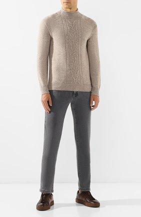 Мужской кашемировый свитер LORO PIANA бежевого цвета, арт. FAI6668 | Фото 2