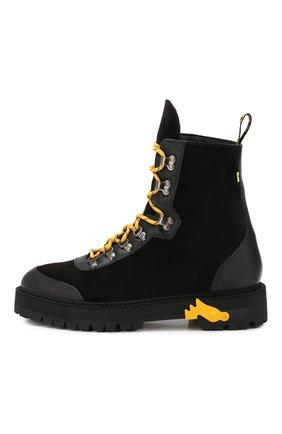 Мужские замшевые ботинки OFF-WHITE черного цвета, арт. 0MIA121E19D680021000 | Фото 3