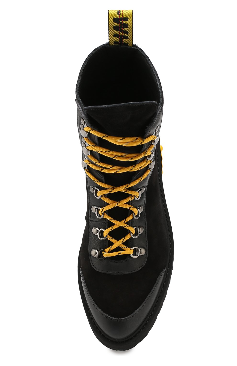 Мужские замшевые ботинки OFF-WHITE черного цвета, арт. 0MIA121E19D680021000 | Фото 5