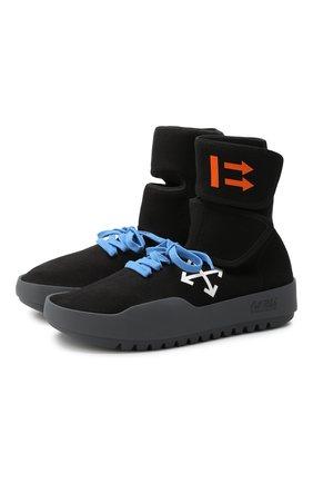 Мужские текстильные кроссовки cst-001 OFF-WHITE черного цвета, арт. 0MIA108E19B830241001 | Фото 1