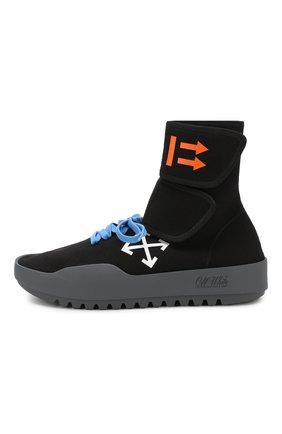 Мужские текстильные кроссовки cst-001 OFF-WHITE черного цвета, арт. 0MIA108E19B830241001 | Фото 3