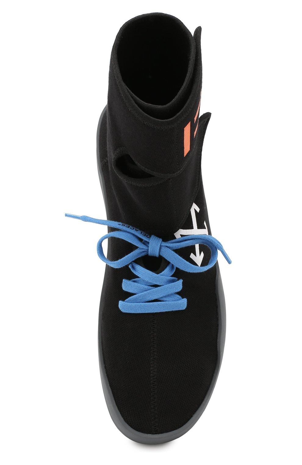 Мужские текстильные кроссовки cst-001 OFF-WHITE черного цвета, арт. 0MIA108E19B830241001 | Фото 5