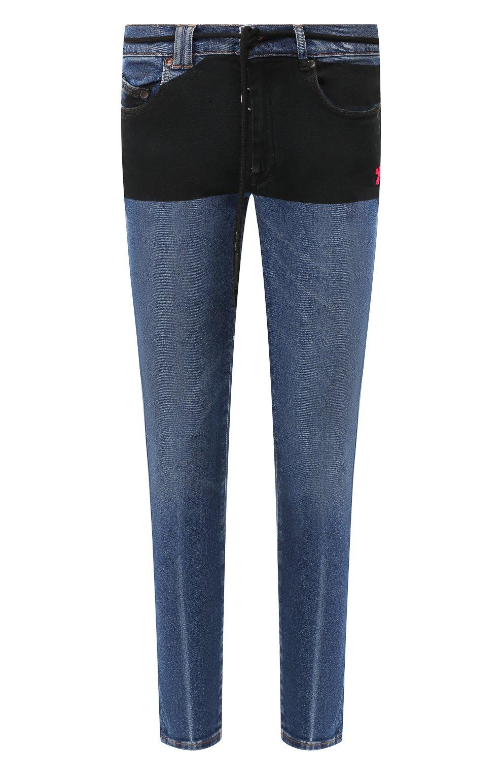 Мужские джинсы OFF-WHITE синего цвета, арт. 0MYA002E19E520453228 | Фото 1