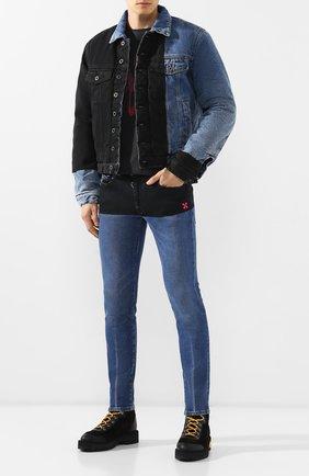 Мужские джинсы OFF-WHITE синего цвета, арт. 0MYA002E19E520453228 | Фото 2