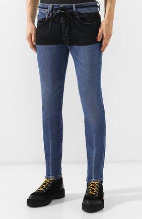 Мужские джинсы OFF-WHITE синего цвета, арт. 0MYA002E19E520453228 | Фото 3