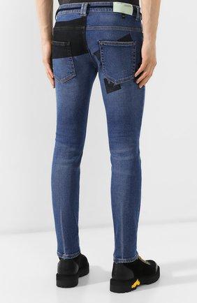 Мужские джинсы OFF-WHITE синего цвета, арт. 0MYA002E19E520453228 | Фото 4