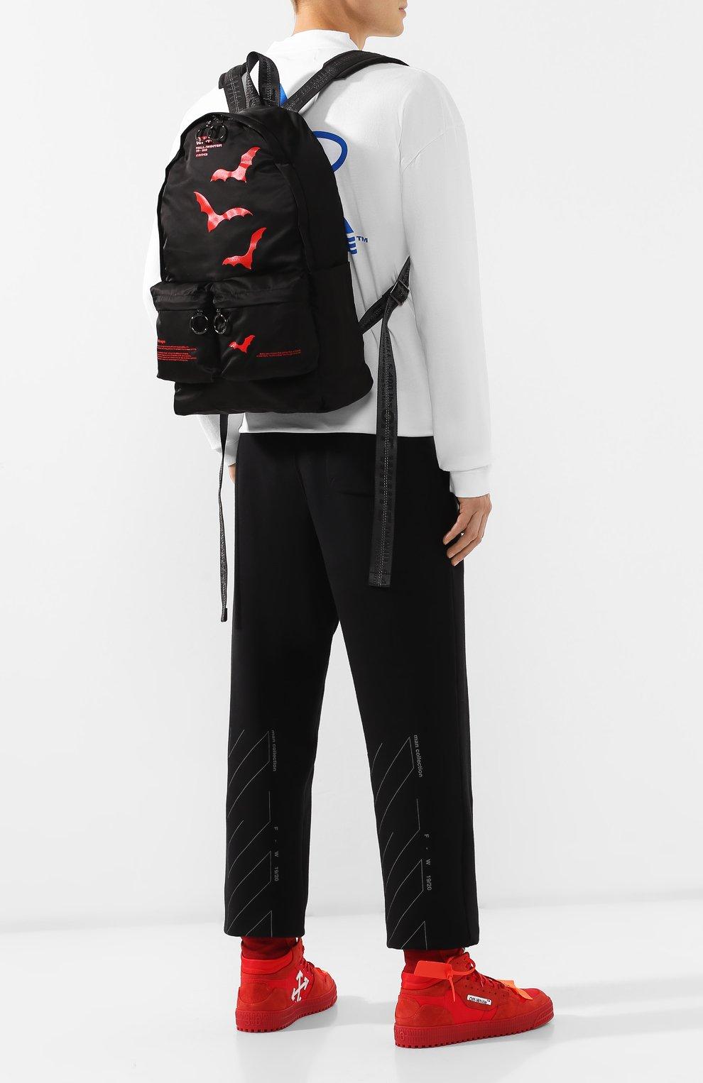 Мужской текстильный рюкзак OFF-WHITE черного цвета, арт. 0MNB003E19E480071020 | Фото 2