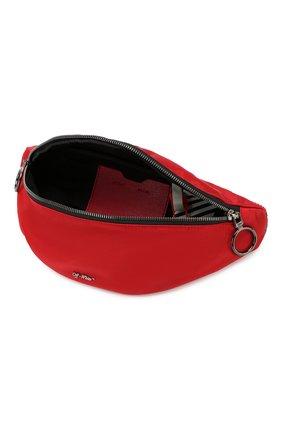 Мужская текстильная поясная сумка OFF-WHITE красного цвета, арт. 0MNA074E19E480022000   Фото 4