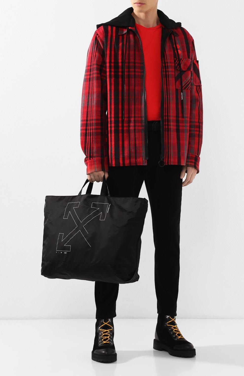 Мужская текстильная сумка OFF-WHITE черного цвета, арт. 0MNA054E19E240031091 | Фото 2