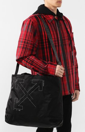 Мужская текстильная сумка OFF-WHITE черного цвета, арт. 0MNA054E19E240031091 | Фото 5