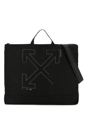 Мужская текстильная сумка OFF-WHITE черного цвета, арт. 0MNA054E19E240031091 | Фото 6
