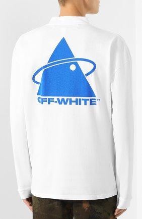 Мужская хлопковый лонгслив OFF-WHITE белого цвета, арт. 0MAB032E191850130130 | Фото 4