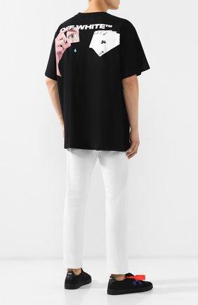 Мужская хлопковая футболка OFF-WHITE черного цвета, арт. 0MAA038E191850111088 | Фото 2
