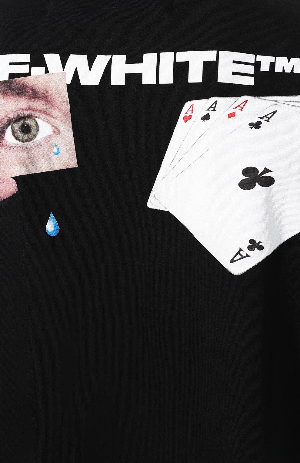 Мужская хлопковая футболка OFF-WHITE черного цвета, арт. 0MAA038E191850111088 | Фото 5