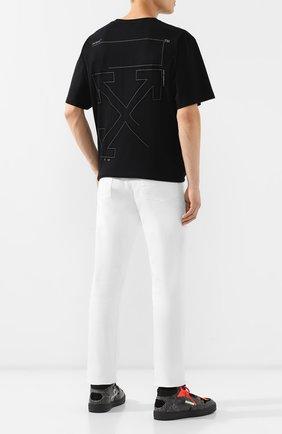Мужская хлопковая футболка OFF-WHITE черного цвета, арт. 0MAA038E191850031091 | Фото 2