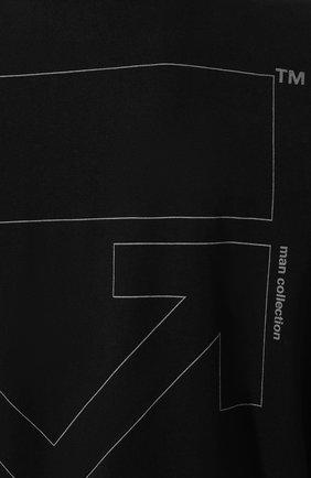 Мужская хлопковая футболка OFF-WHITE черного цвета, арт. 0MAA038E191850031091 | Фото 5