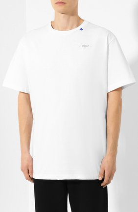 Мужская хлопковая футболка OFF-WHITE белого цвета, арт. 0MAA038E191850030191 | Фото 3