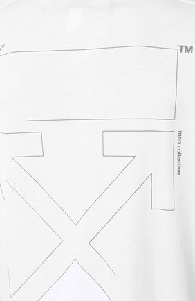 Мужская хлопковая футболка OFF-WHITE белого цвета, арт. 0MAA038E191850030191 | Фото 5