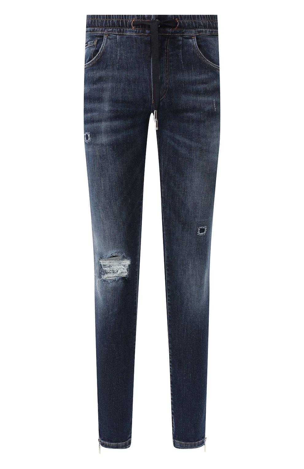Мужские джинсы DOLCE & GABBANA синего цвета, арт. GYWVLD/G8BG8 | Фото 1