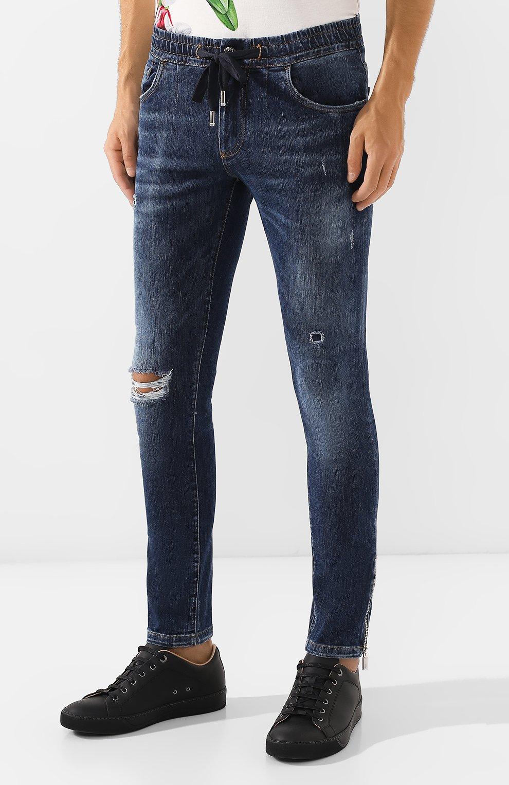 Мужские джинсы DOLCE & GABBANA синего цвета, арт. GYWVLD/G8BG8 | Фото 3