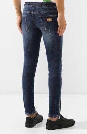 Мужские джинсы DOLCE & GABBANA синего цвета, арт. GYWVLD/G8BG8 | Фото 4