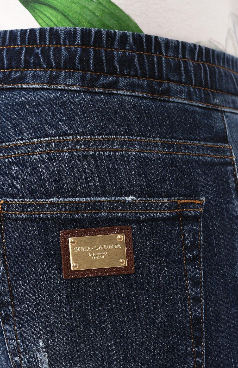 Мужские джинсы DOLCE & GABBANA синего цвета, арт. GYWVLD/G8BG8 | Фото 5