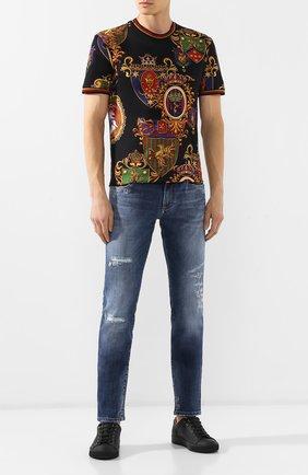 Мужские джинсы DOLCE & GABBANA синего цвета, арт. GY07LD/G8BD4   Фото 2