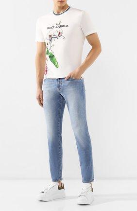 Мужская хлопковая футболка DOLCE & GABBANA белого цвета, арт. G8KD0T/HH740 | Фото 2