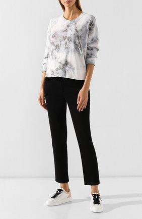 Женские кожаные кеды HOGAN белого цвета, арт. HXW3650J971LM7 | Фото 2