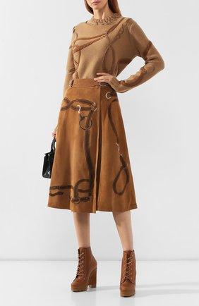 Женские кожаные ботильоны RALPH LAUREN коричневого цвета, арт. 800769423 | Фото 2