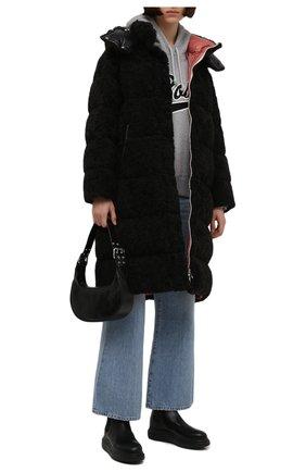 Женские кожаные челси ALEXANDER MCQUEEN черного цвета, арт. 586398/WHX52 | Фото 2