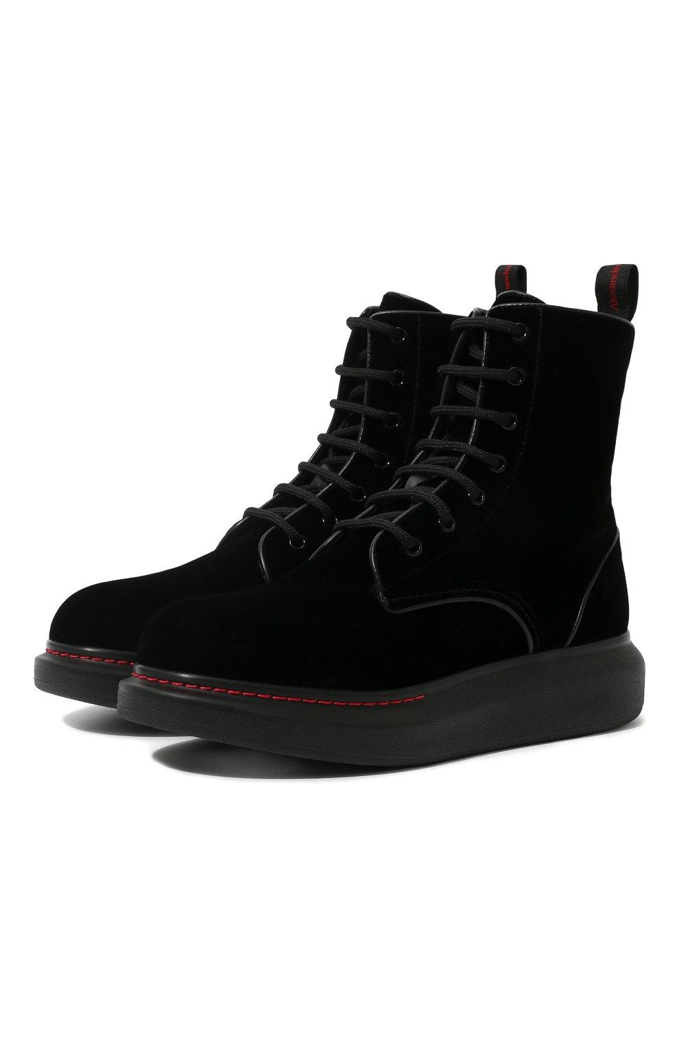 Женские текстильные ботинки ALEXANDER MCQUEEN черного цвета, арт. 586395/W4IKX | Фото 1