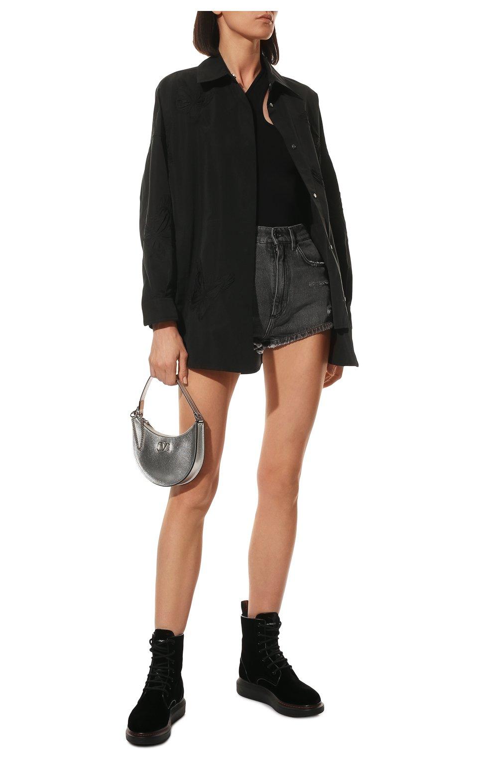 Женские текстильные ботинки ALEXANDER MCQUEEN черного цвета, арт. 586395/W4IKX | Фото 2